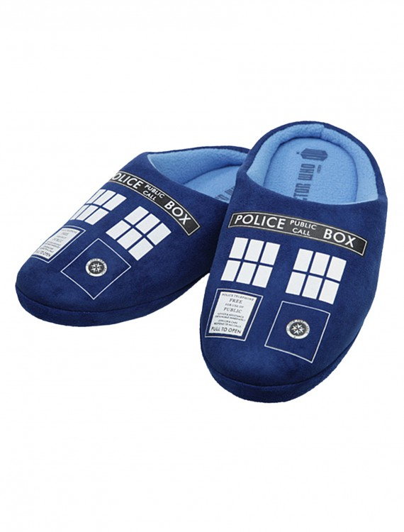 Doctor Who Tardis Slippers, halloween costume (Doctor Who Tardis Slippers)