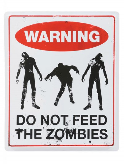 Don't Feed the Zombies Sign, halloween costume (Don't Feed the Zombies Sign)