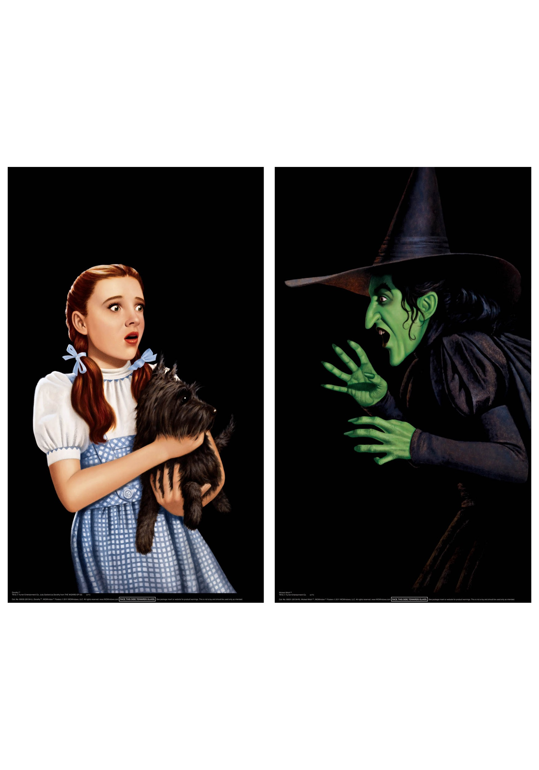 dorothy and wicked witch window cling