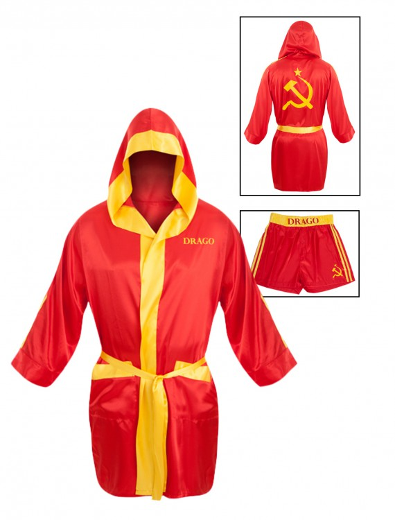 Drago Satin Robe Boxer Short Set, halloween costume (Drago Satin Robe Boxer Short Set)