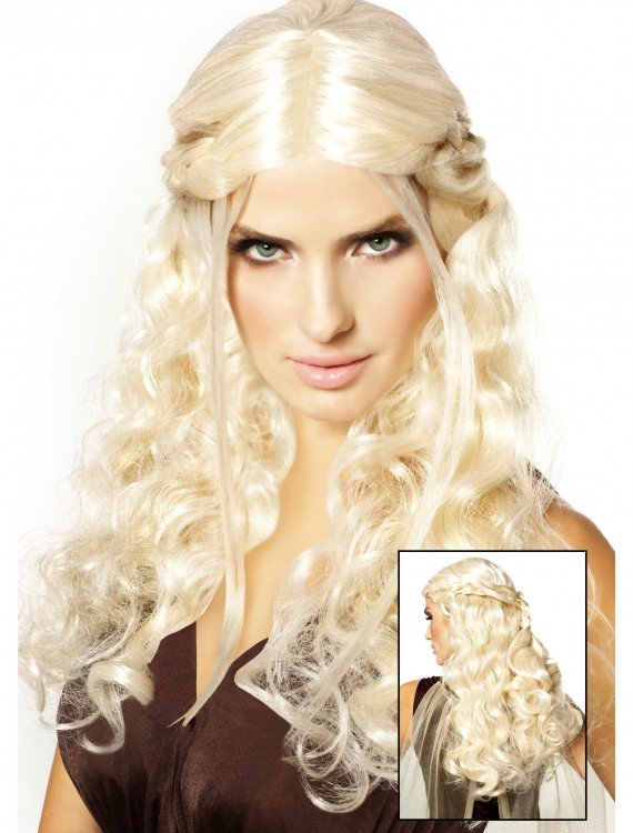 Dragon Princess Wig Platinum Blonde, halloween costume (Dragon Princess Wig Platinum Blonde)