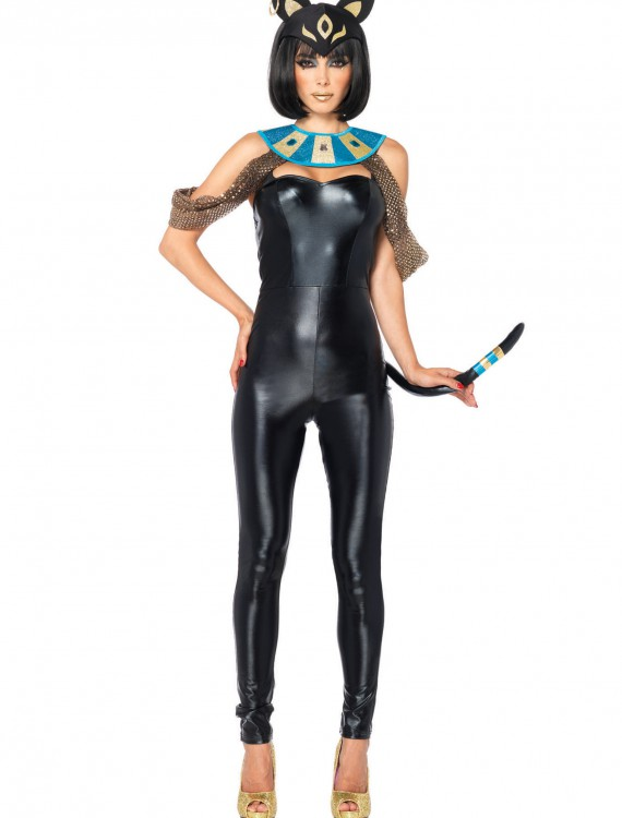 Egyptian Cat Goddess Adult Costume, halloween costume (Egyptian Cat Goddess Adult Costume)