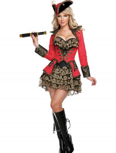 Elite Red Pirate Costume, halloween costume (Elite Red Pirate Costume)