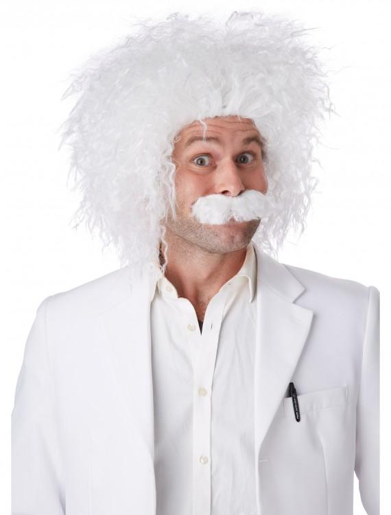 E=MC2 Wig & Mustache, halloween costume (E=MC2 Wig & Mustache)