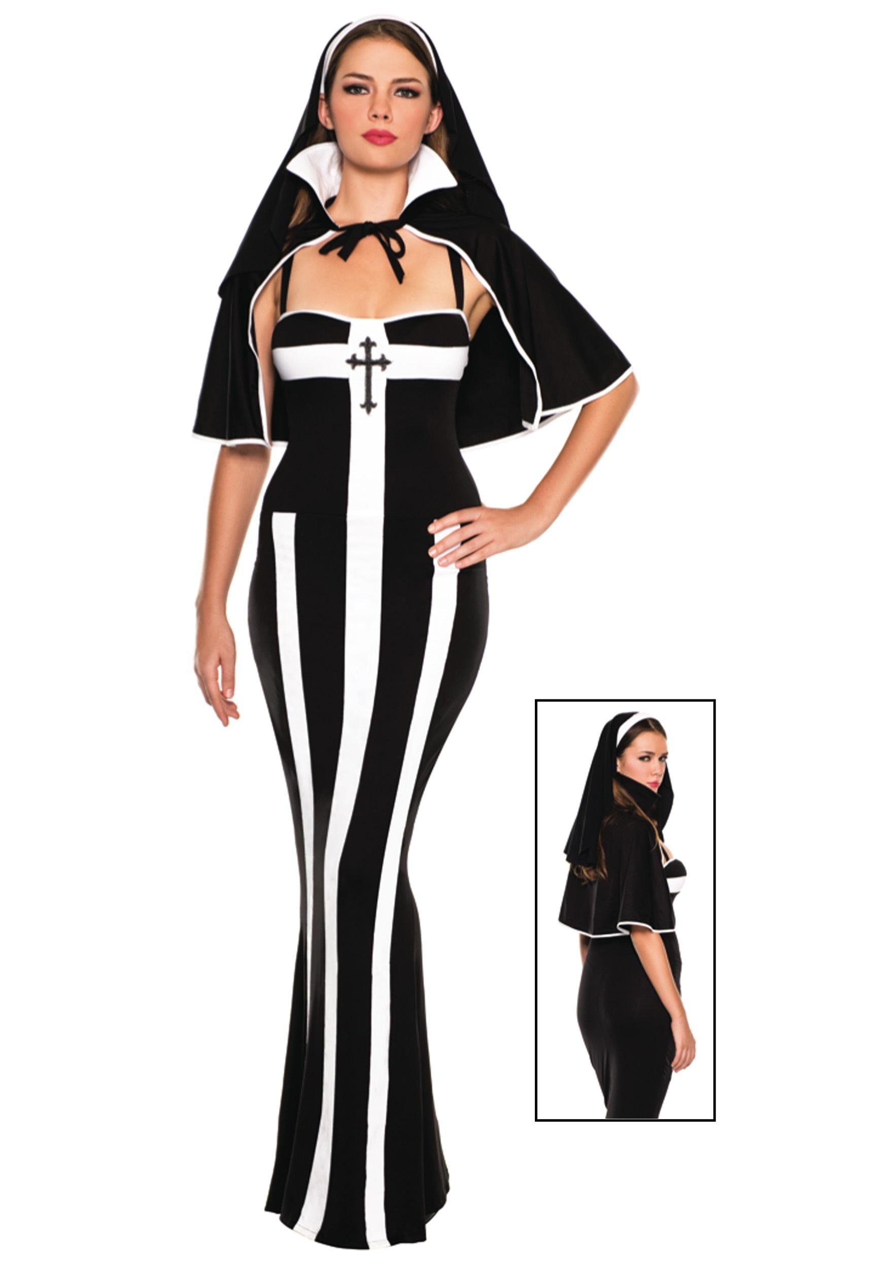 Erotic Deluxe Nun Costume  sc 1 st  Halloween Costumes & Erotic Deluxe Nun Costume - Halloween Costumes