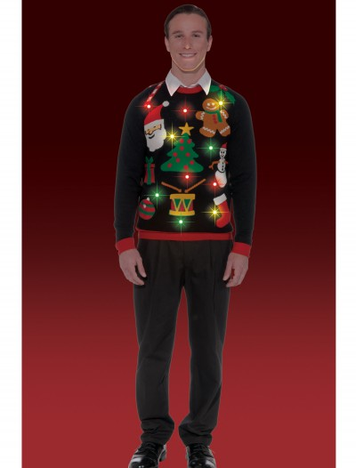 Everything Christmas Lighted Sweater, halloween costume (Everything Christmas Lighted Sweater)