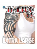 Extra Large Tribal Temporary Tattoo, halloween costume (Extra Large Tribal Temporary Tattoo)