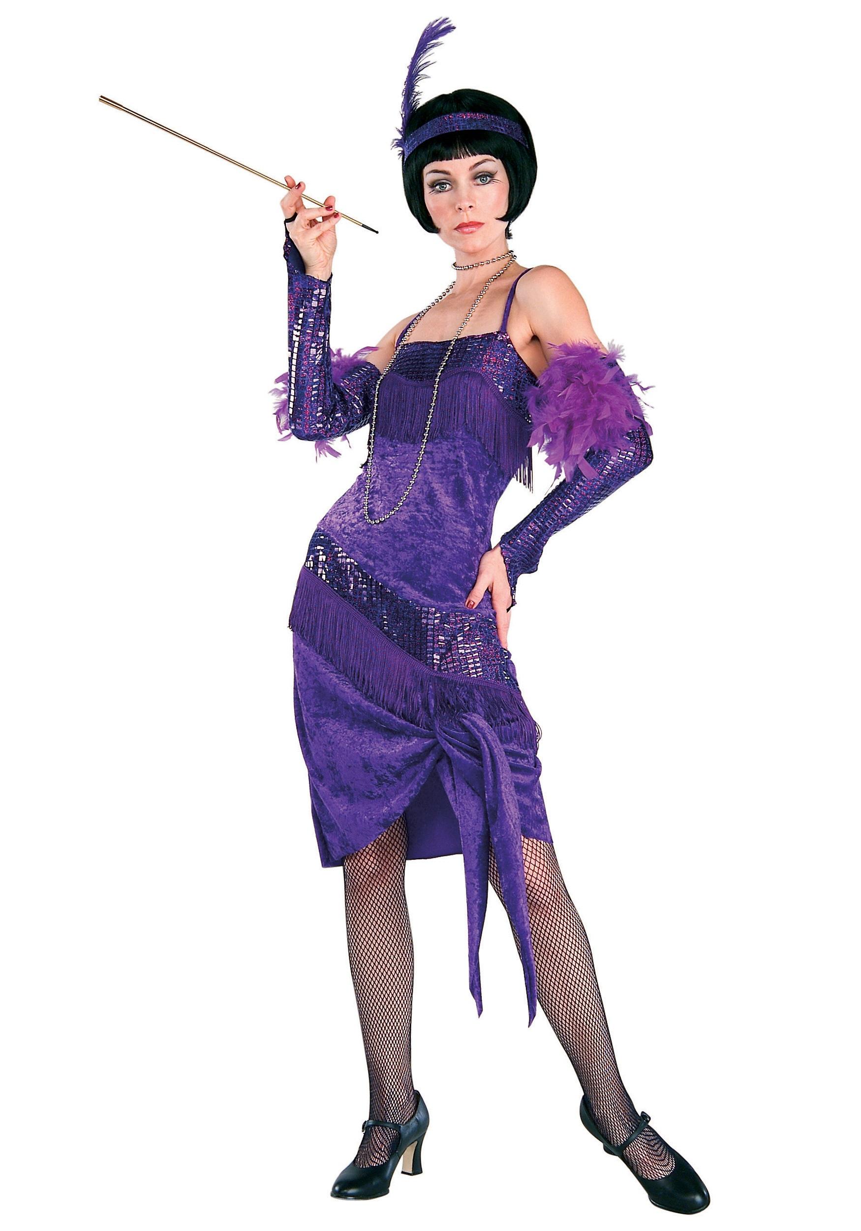fabulous purple flapper costume