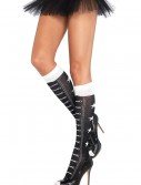 Faux Lace Up Athletic Socks, halloween costume (Faux Lace Up Athletic Socks)