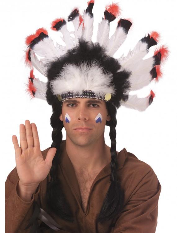 Feathered American Indian Headdress, halloween costume (Feathered American Indian Headdress)