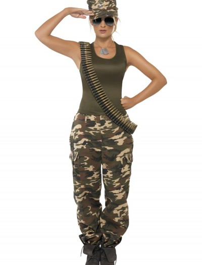 Female Khaki Camo Costume, halloween costume (Female Khaki Camo Costume)