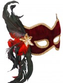 Female Masquerade Maroon Mask, halloween costume (Female Masquerade Maroon Mask)