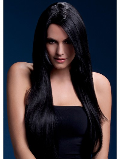 Styleable Fever Amber Black Wig, halloween costume (Styleable Fever Amber Black Wig)