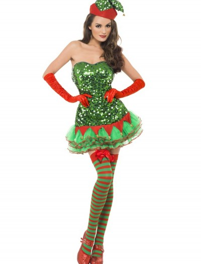 Fever Elf Sequin Costume, halloween costume (Fever Elf Sequin Costume)