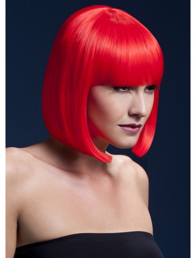 Styleable Fever Elise Neon Red Wig, halloween costume (Styleable Fever Elise Neon Red Wig)