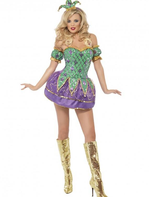 Fever Harlequin Shine Costume, halloween costume (Fever Harlequin Shine Costume)