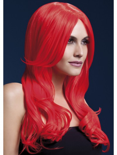 Styleable Fever Khloe Neon Red Wig, halloween costume (Styleable Fever Khloe Neon Red Wig)