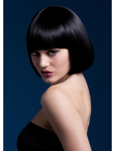 Styleable Fever Mia Black Wig, halloween costume (Styleable Fever Mia Black Wig)