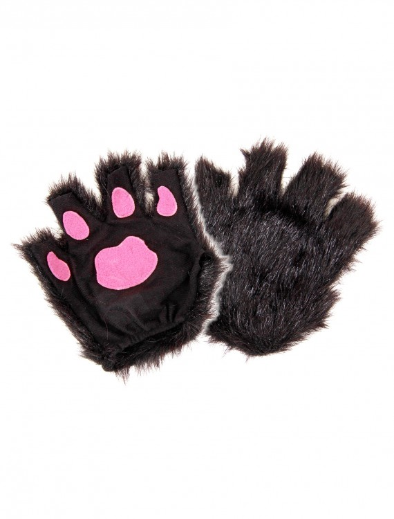 Fingerless Black Paws, halloween costume (Fingerless Black Paws)