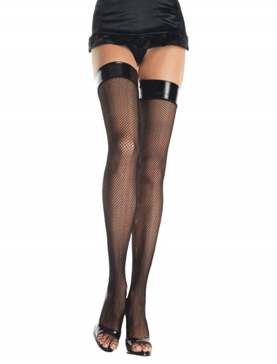 Fishnet Stockings with Vinyl Tops, halloween costume (Fishnet Stockings with Vinyl Tops)