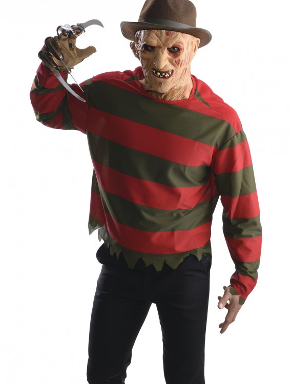 Adult Freddy Krueger Shirt w/ Mask, halloween costume (Adult Freddy Krueger Shirt w/ Mask)