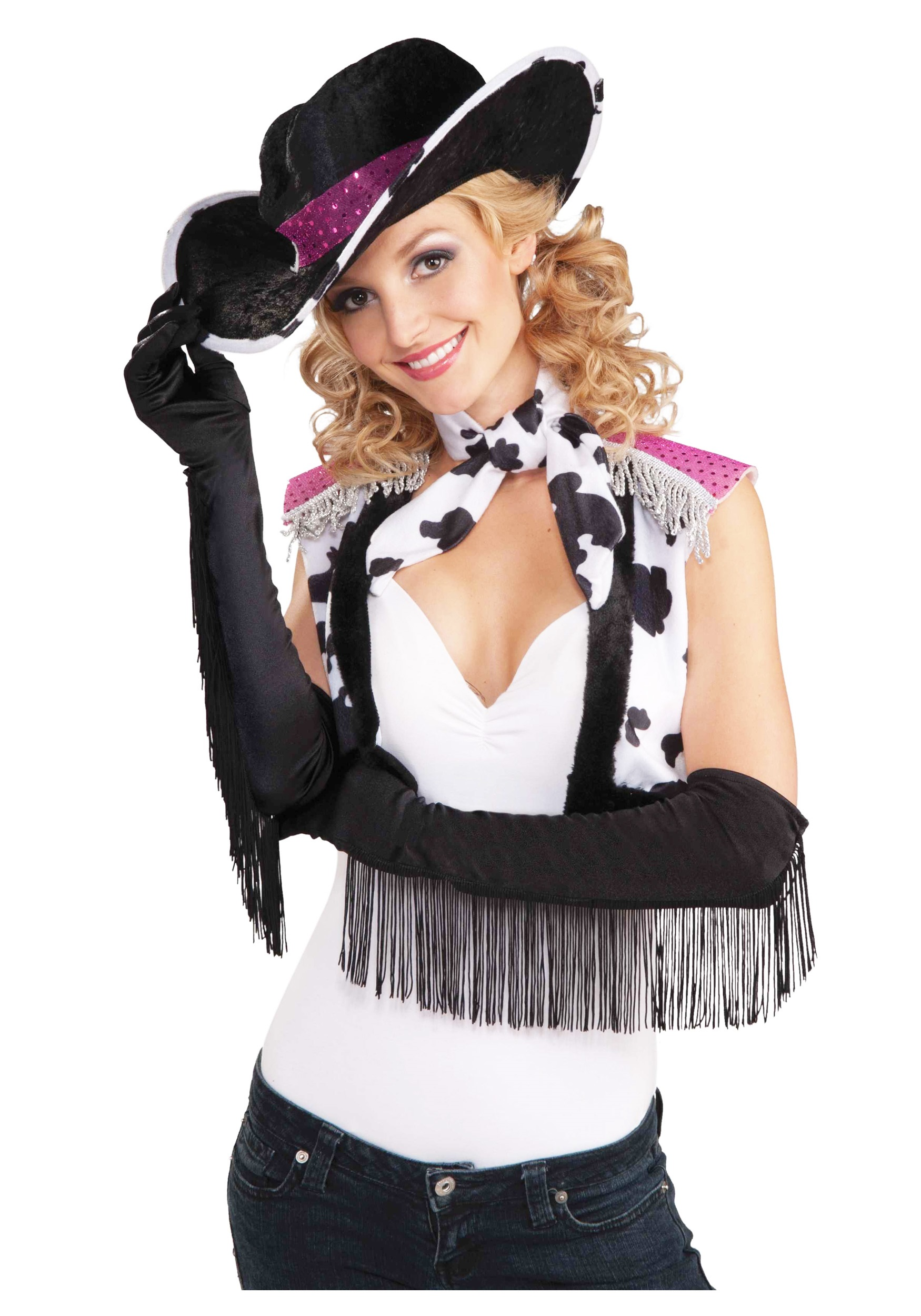 fringe cowgirl gloves - halloween costumes