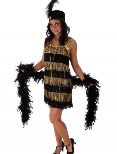 Fringe Gold Flapper Costume, halloween costume (Fringe Gold Flapper Costume)