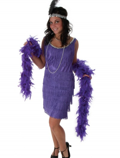 Fringe Purple Flapper Costume, halloween costume (Fringe Purple Flapper Costume)
