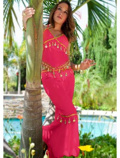 Fuchsia Teen Belly Dancer Costume, halloween costume (Fuchsia Teen Belly Dancer Costume)