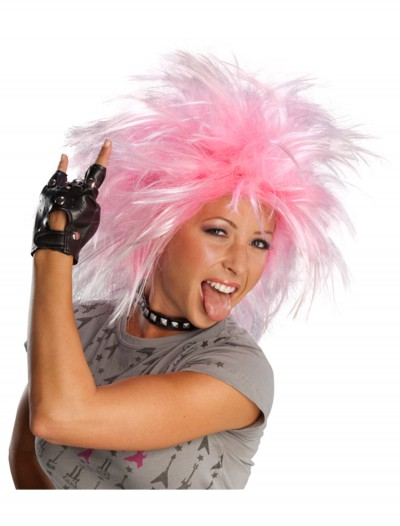 Funky Pink Punk Wig, halloween costume (Funky Pink Punk Wig)