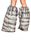 Fur Leg Warmers with Beads, halloween costume (Fur Leg Warmers with Beads)
