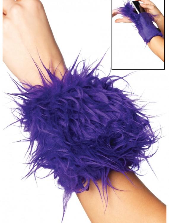 Furry Purple Wrist Wallet, halloween costume (Furry Purple Wrist Wallet)