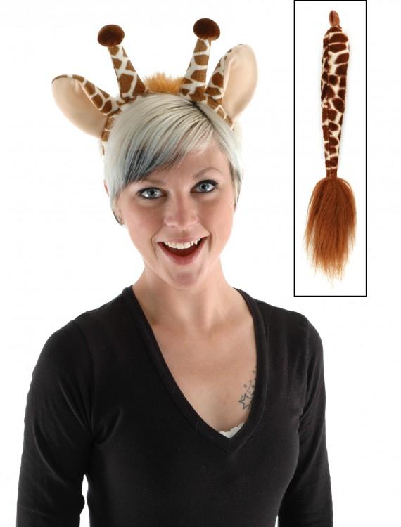 Giraffe Ears & Tail Set, halloween costume (Giraffe Ears & Tail Set)