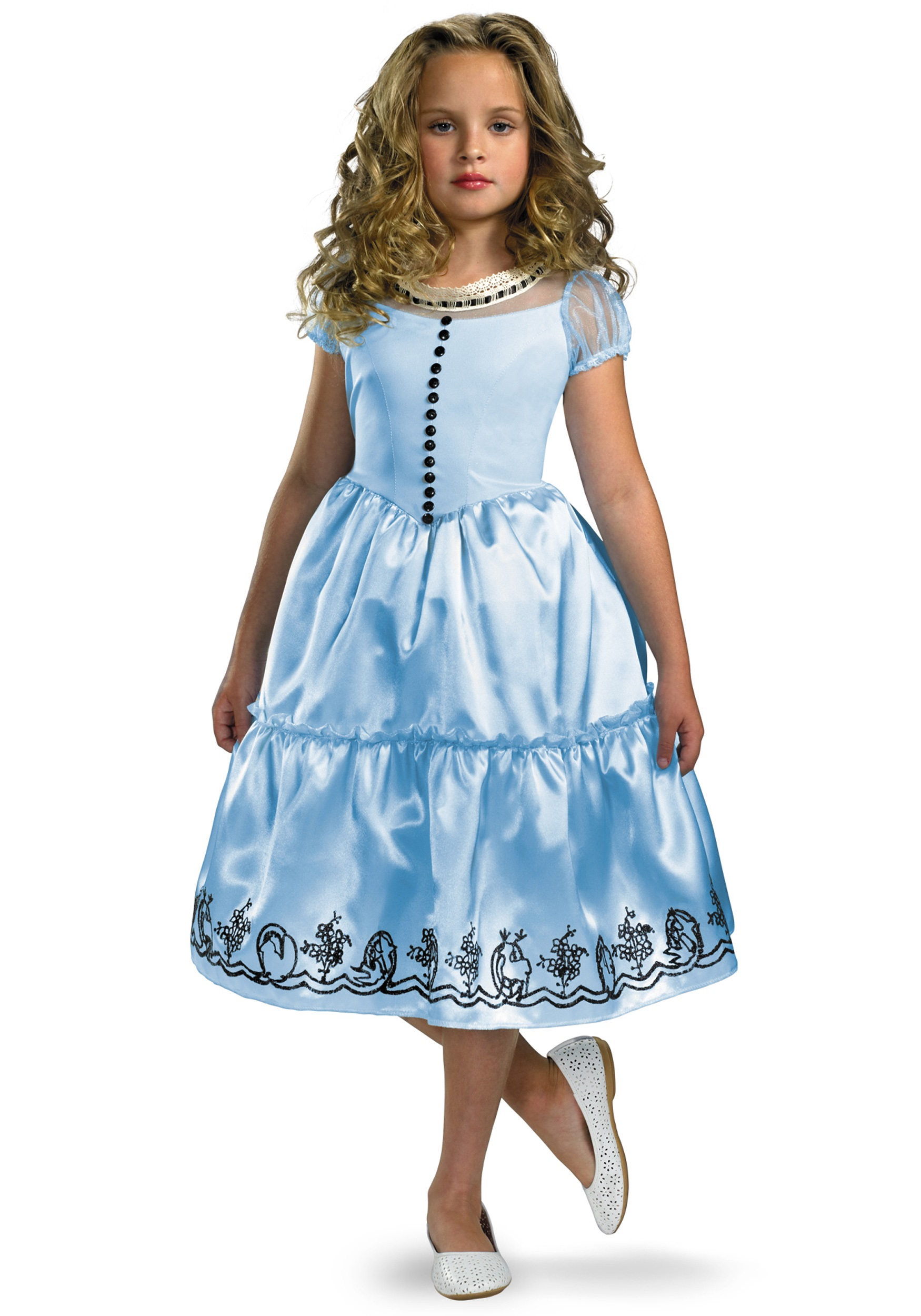 Girls Alice in Wonderland Costume - Halloween Costumes