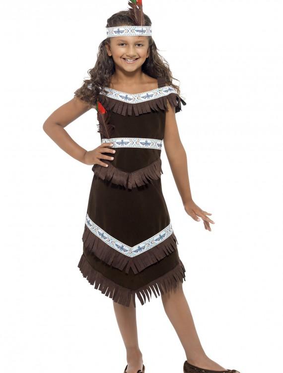Girls American Indian Costume, halloween costume (Girls American Indian Costume)