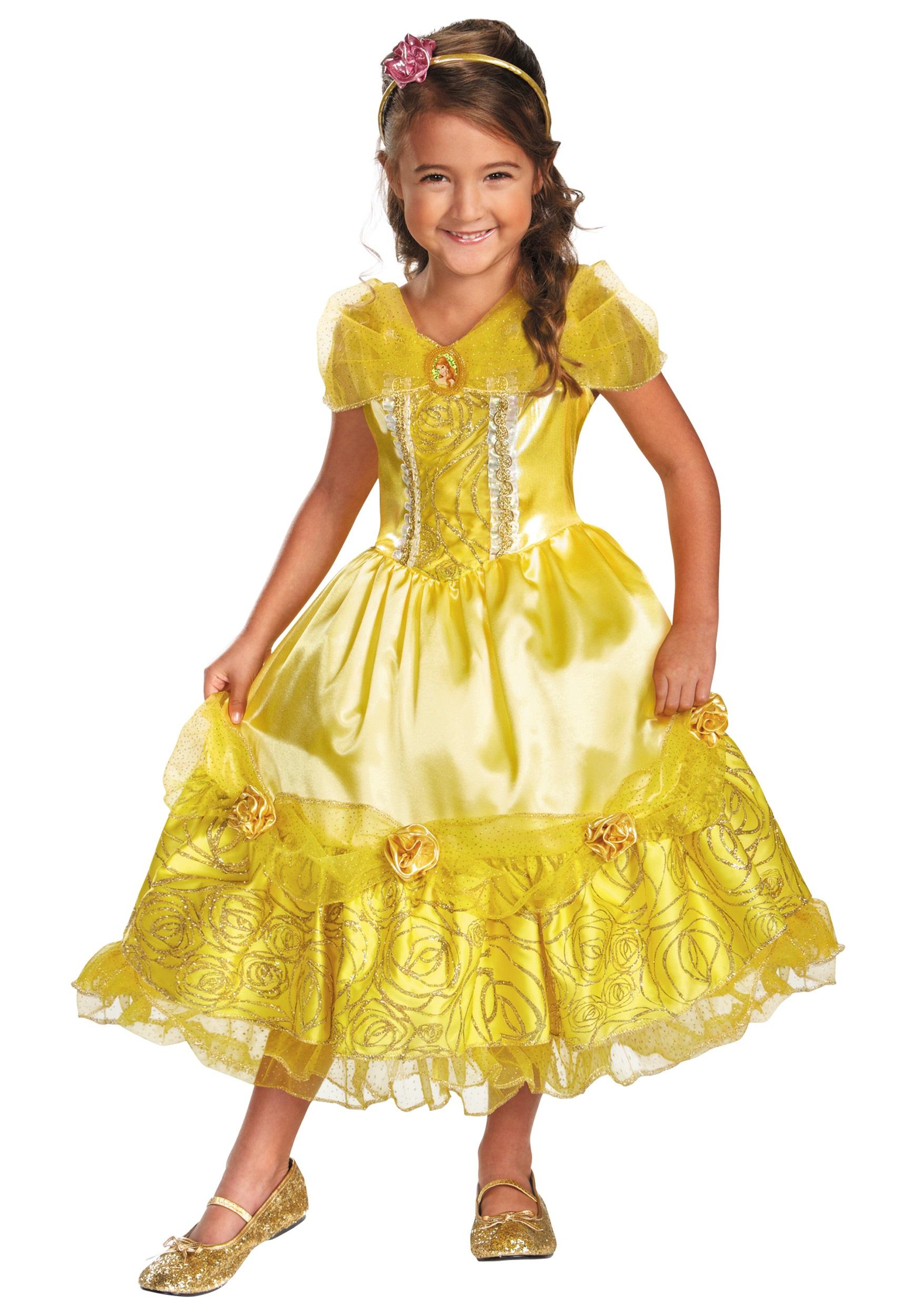 girls belle sparkle deluxe costume