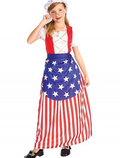 Girls Betsy Ross Costume, halloween costume (Girls Betsy Ross Costume)