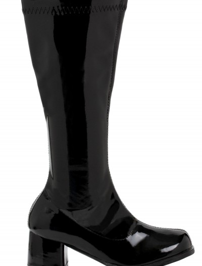 Girls Black Gogo Boots, halloween costume (Girls Black Gogo Boots)