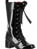 Girls Black Lace Up Gogo Boots, halloween costume (Girls Black Lace Up Gogo Boots)
