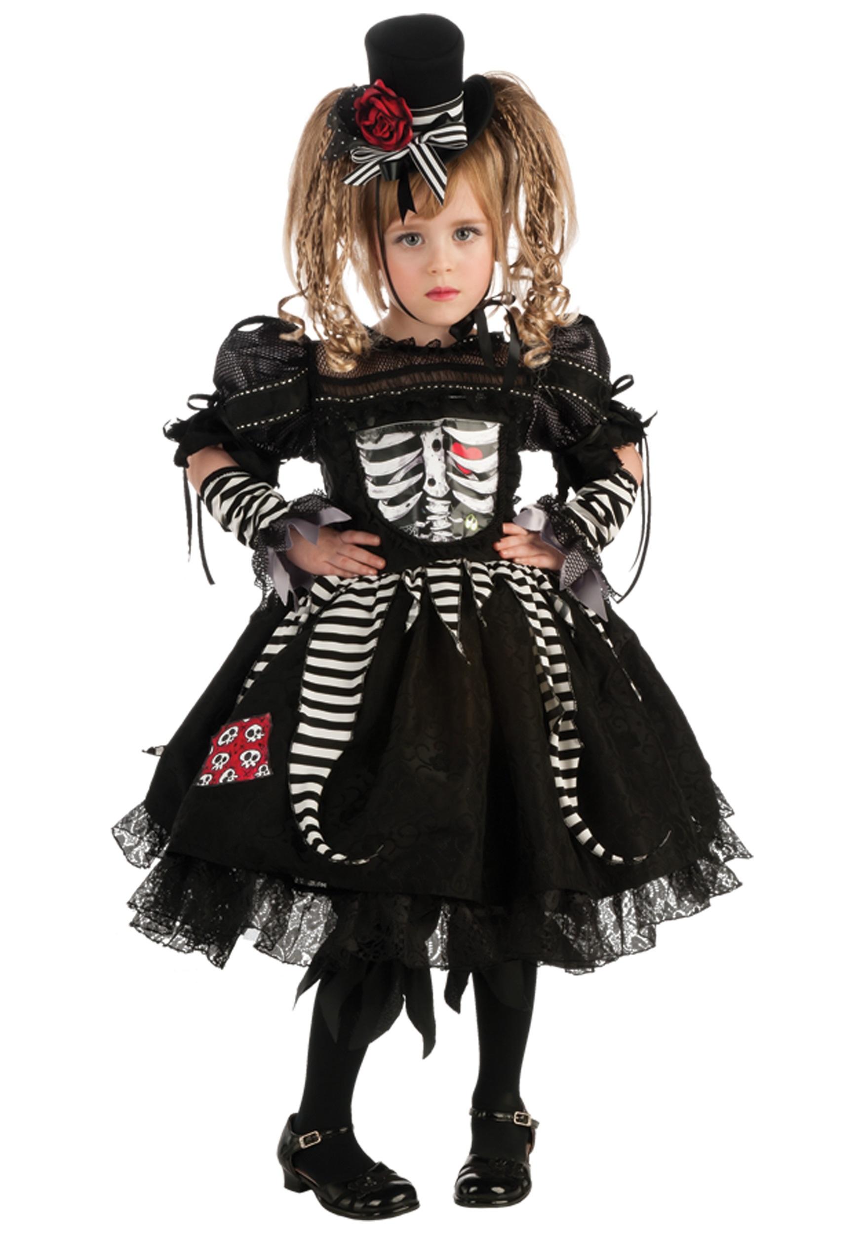 Girls Bones Costume - Halloween Costumes