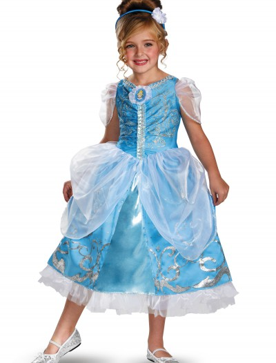 Girls Cinderella Sparkle Deluxe Costume, halloween costume (Girls Cinderella Sparkle Deluxe Costume)