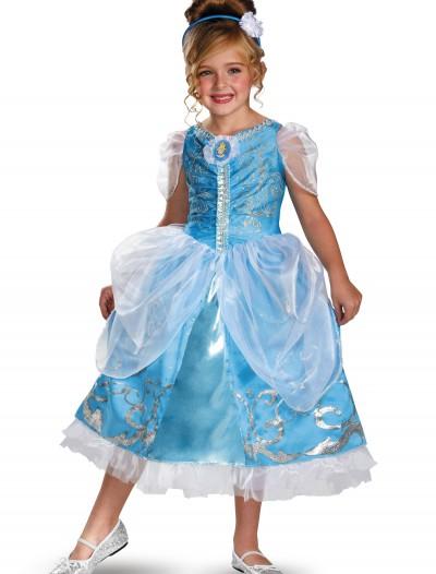 Girls Cinderella Sparkle Deluxe Costume, halloween costume (Girls Cinderella Sparkle Deluxe Costume)