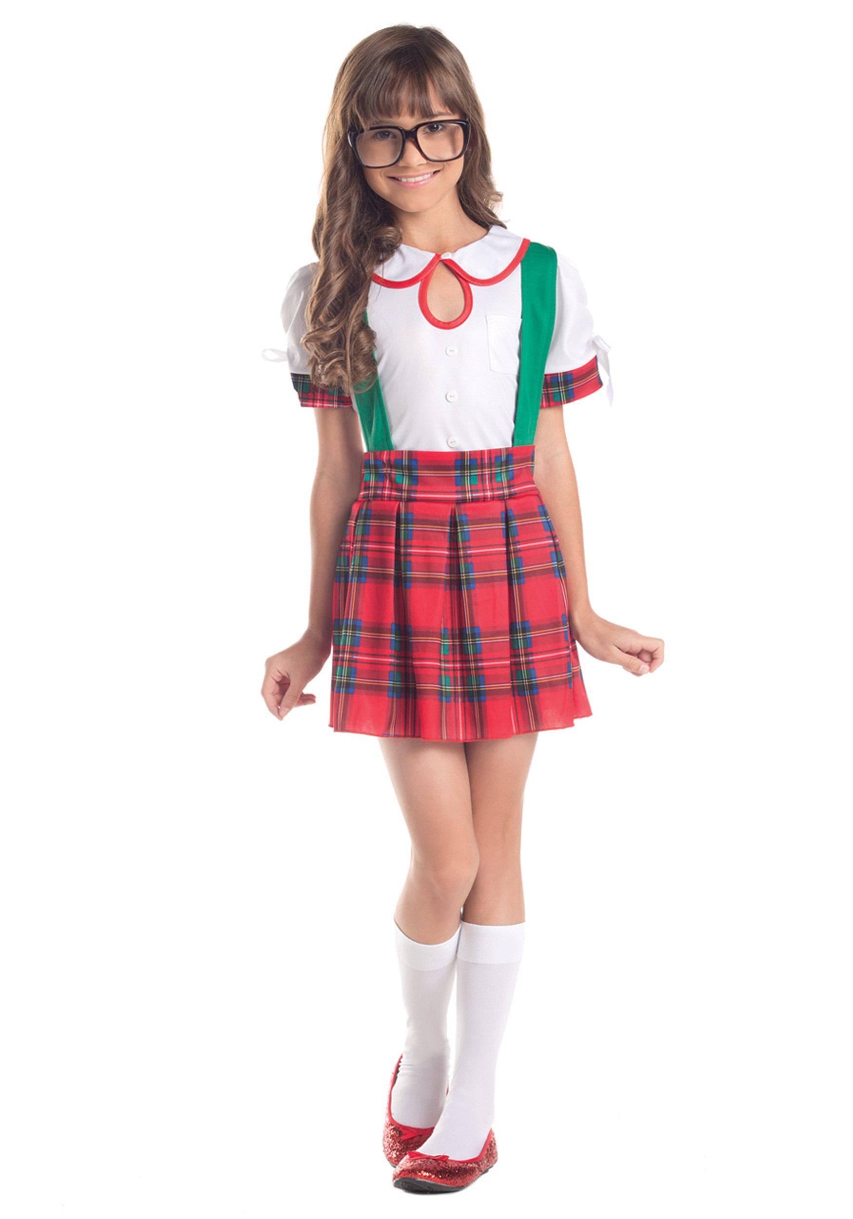 girls classroom nerd costume