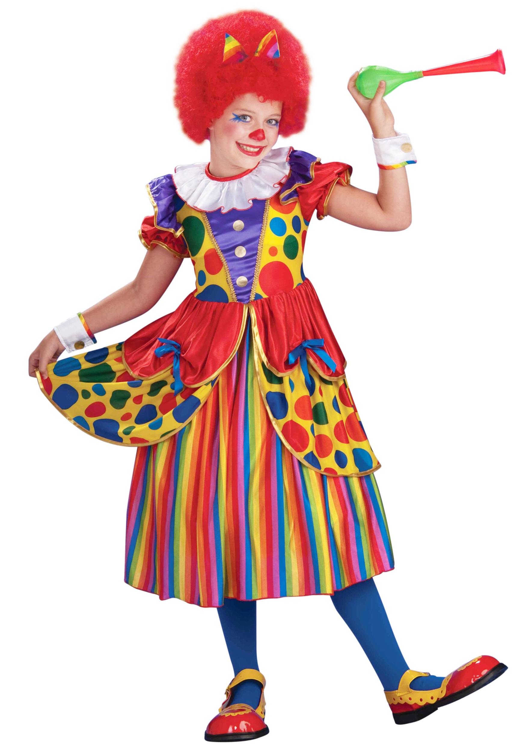 girls clown princess costume - Girl Clown Halloween Costumes
