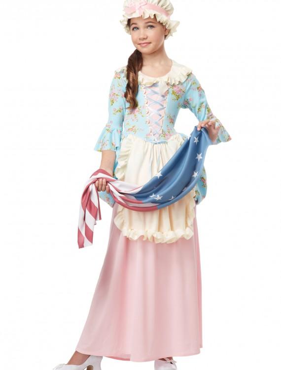 Girls Colonial Lady Costume, halloween costume (Girls Colonial Lady Costume)