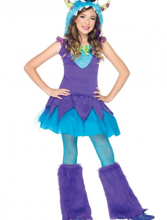 Girls Cross Eyed Carlie Monster Costume, halloween costume (Girls Cross Eyed Carlie Monster Costume)