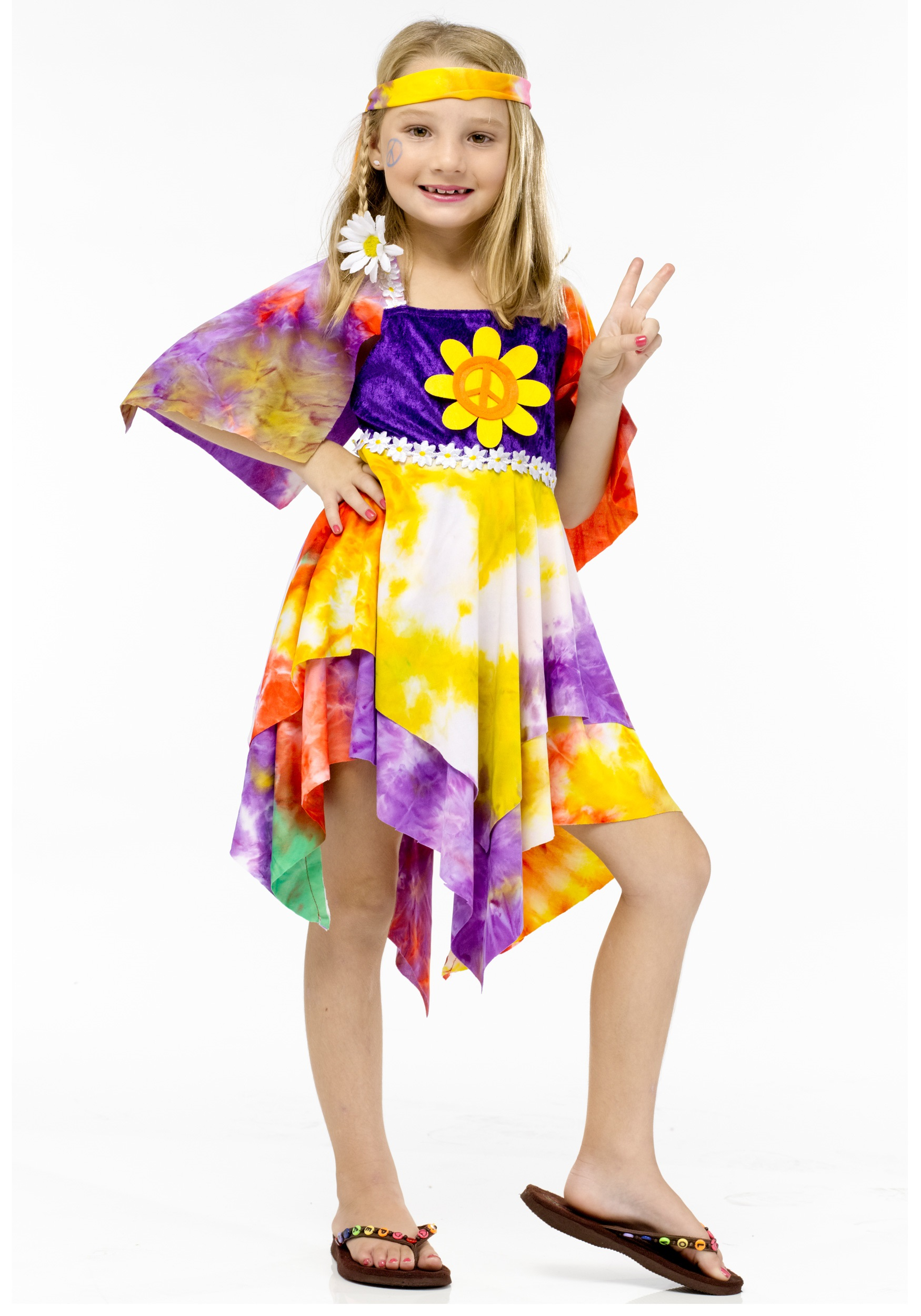 Girls Daisy Hippie Costume  sc 1 st  Halloween Costumes : 60s costumes for girls  - Germanpascual.Com