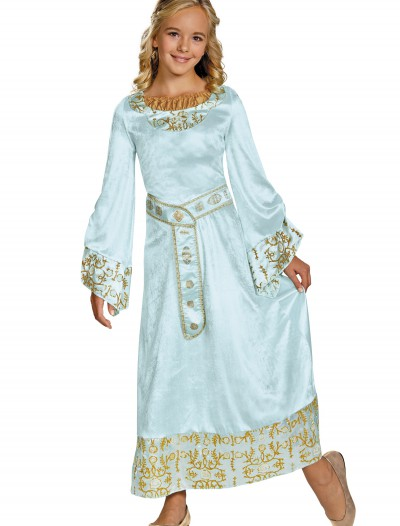 Girls Deluxe Aurora Blue Dress Costume, halloween costume (Girls Deluxe Aurora Blue Dress Costume)