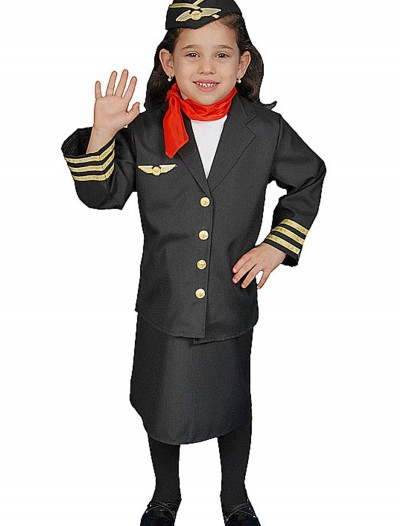 Girls Flight Attendant Costume, halloween costume (Girls Flight Attendant Costume)