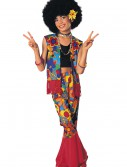 Girls Flower Power Hippie Costume, halloween costume (Girls Flower Power Hippie Costume)